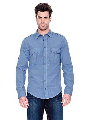 Hugo Boss Camisa Ezzer (Azul Marino)