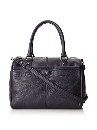 Charlotte Ronson Women's Cable Embossed Satchel (Navy)