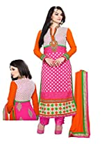 PHENOMENAL PURE GEORGETTE SALWAR Pink coloured straight cut suit