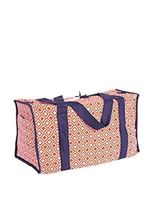 Malabar Bay Modern Square Duffle Bag, Orange