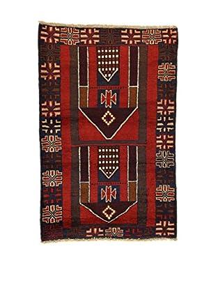 Eden Teppich Beluchistan rot/mehrfarbig 89 x 137 cm