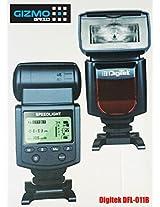 Digitek Electronic Camera Flash Speedlite DFL-011B Manual (2016 Latest Model of DFL-011A) for Canon EOS, Nikon, Fujifilm, Pentax, Samsung, RICOH, Olympus, Panasonic, Sony DSLR's, GN 40, LCD Display (GizmoGrid)