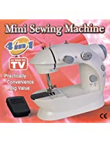 4 in 1 Mini Portable sewing machine works with Battery & Electricity