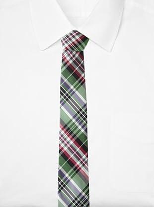 Ben Sherman Men's Morton Plaid Tie (Green)