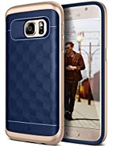 Galaxy S7 Case, Caseology® [Parallax Series] Textured Pattern Grip Case [Navy Blue] [Shock Proof] for Samsung Galaxy S7 (2016) - Navy Blue