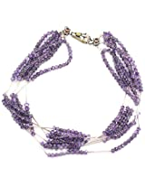 925 Silver Sterling-Silver Multi-Strand  For Women (Purple)