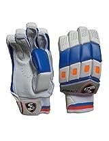SG Litevate Right Hand Batting Gloves, Youth (White/Blue/Orange)