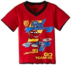 Disney Boys' Car T-Shirt (IFTS 1484_Red and Black_6-7 Years)