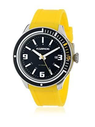 K&BROS Reloj 9487 (Negro / Amarillo)