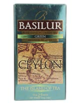 Basilur Island of Tea Tea Bags, Green, 37.5g