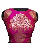 Kuvarba Fashion Color Pink Fabric Jacquard Readymade Designer Fancy Blouse