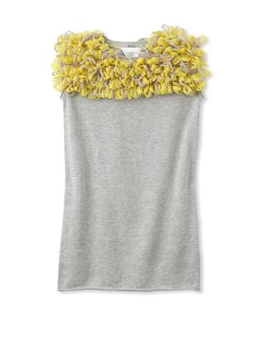 kicokids Girl's Tulle Pompom Shift Dress (Citrus)
