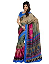 Vibes Cotton Patch Work Saree (S29-6018A _Multi-Coloured)