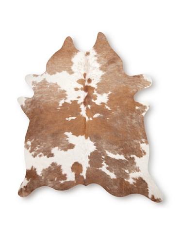 Natural Kobe Cowhide Rug (Brown & White)