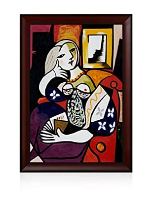 Pablo Picasso Woman with Book Framed Oil Painting, 24 x 36