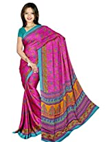 Chinco Saree With Blouse Piece (P1004-A_Pink)