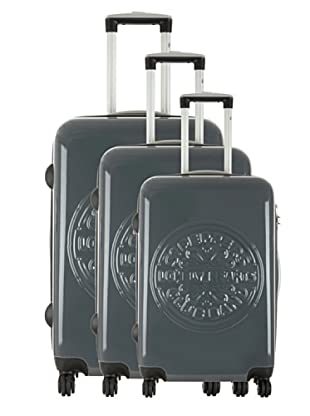 Les Beatles by Platinium Set 3 Trolleys 4 Ruedas Lonely (Gris)