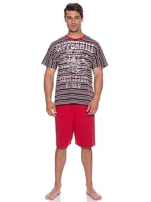 Kumy Pijama Caballero Copperhill Rayas (Marrón / Rojo)