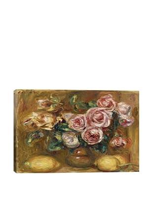 Pierre-Auguste Renoir's Nature Morte: Bouquet De Roses Avec Citrons Giclée Canvas Print