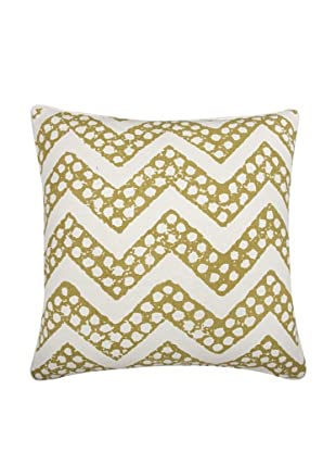 Thomas Paul Chevron Feather Pillow, Ochre