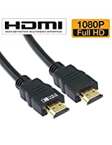 Cable Hunter High Speed 3D Full HD 1080p Support (1 Meters) HDMI Male to HDMI Male Cable TV Lead 1.4V for All Hdmi Devices- Black (2 Year Warranty)
