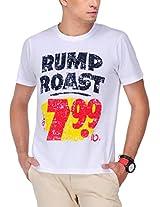 Yepme Men's White Graphic Cotton T-shirt -YPMTEES0320_S