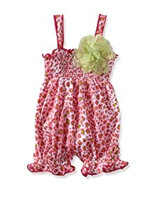 Baby Nay Smocking Balloon Romper (Pink Cheetah)