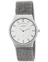 Skagen Grenen Analog Silver Dial Men's Watch - 233LSS2M