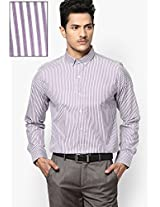 Purple Stripes Button Down Collar Shirt