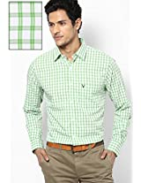 Green Check Slim Fit Casual Shirt Allen Solly