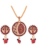 Ganapathy Gems Gold Plated Pendant Set for Women (6146)
