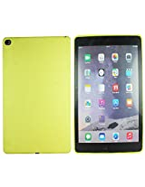 Heartly New Retro Dotted Design Hole Soft TPU Matte Bumper Back Case Cover For Apple iPad 6 Air 2 Tablet - Sweet Yellow