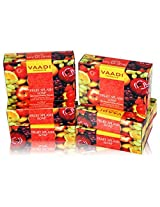 Vaadi Super Value Pack of 6 FRUIT SPLASH SOAP with extracts of Orange, Peach, Green Apple & Lemon (5 + 1 FREE)