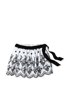 Journal Girl's Embroidered Tie Skirt (Black & White)