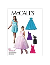 McCall's Patterns M6466 Misses' Lined Dresses and Flower, Size C5 (10-12-14-16-18)