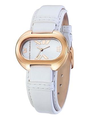 Adolfo Dominguez Watches 69014 - Reloj de Señora cuarzo correa de piel Blanca