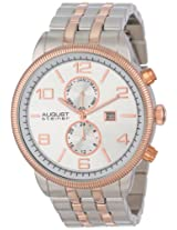August Steiner Men's AS8069TTR Multi-Function Swiss Quartz Bracelet Watch
