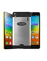 Majesty Glossy Mettalic Back Case Cover for Lenovo K3 Note - Silver