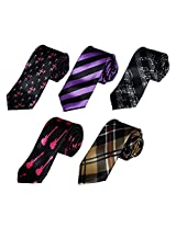 DANF0019 Gift Idea For Skinny Tie Stain Skinny Ties Set Business - 5 Styles Available By Dan Smith