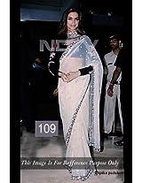 Deepika Padukone in Movie Aarakshan Promoting in White Sarees