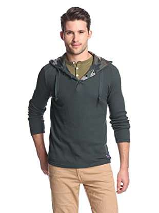 Union Jeans Men's Iron Horse Henley Hoodie (Pastel Teal)