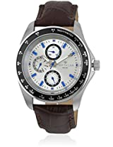 Brown/Silver Analog Watch Tom Tailor