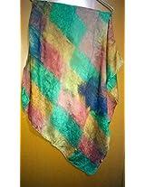 Multi-colored Pure Silk Stole