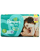 Pampers Baby Dry diapers Large 60 Pieces (9 to 14 kg)