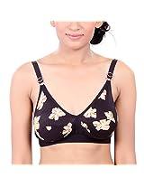 Fashigo Womens Floral Bra (Colour :Brown) (Size :40B)