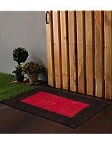 "Po Box Boxy Black & Red Bath Rug 24""x16"""