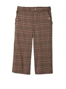 Velvet & Tweed Boy's Pull-On Pant with Button Pockets (Glen Plaid)