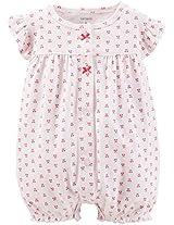 Carter'sBabyGirls'CA-53226PrintRomper(Baby)-Cherries-9Months