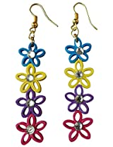 Designer's Collection Paper Quilling Ear Rings for Women-DSERB022