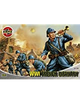 Airfix A01728 1:72 Scale WWI French Infantry Figures Classic Kit Series 1